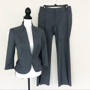 White House Black Market Gray Pants Suit